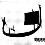 """Наскальный рисунок- """"Лодка"""""""